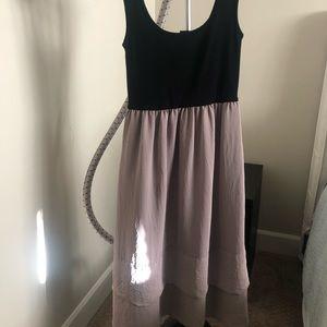 Black and tan sleeveless Dress